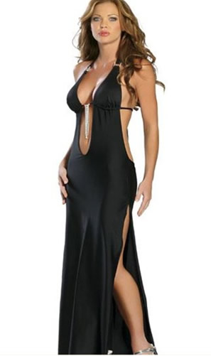 Sexy Halter Plunging Evening Gown