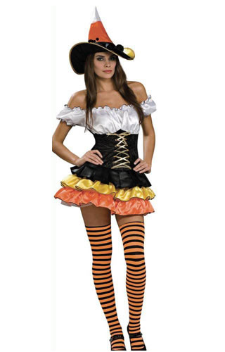 Colorful Candy Witch Costume