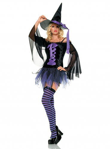 Fuchsia Witch Costume For Adult/Teen (Deluxe Version)