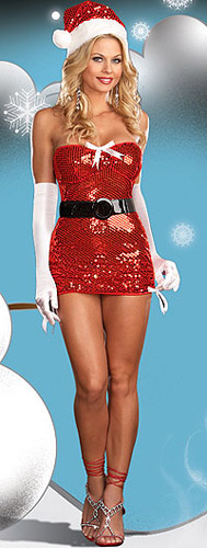 Red Hot Holiday Stretch sequin dress - 10% off