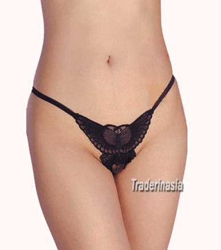 Butterfly open rear thong