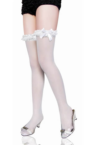 Lace up Thigh High with Satin Bow