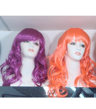 colorful long party wigs